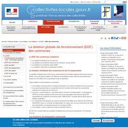 La dotation globale de fonctionnement (DGF) des communes