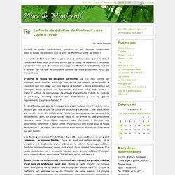 Le fonds de dotation de Montreuil : une copie à revoir - Place de Montreuil