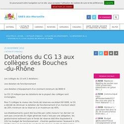 Département des Bouches - du - Rhône - Dotations aux colleges - 2012
