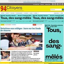 Département du Val-de-Marne - Dotations aux collèges : haro sur les fonds de réserve - 2012