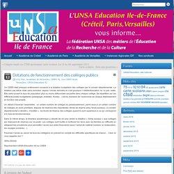 Département des Hautes-de-Seine - Dotations de fonctionnement des collèges publics - 2015