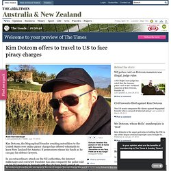 Kim Dotcom offers to travel to US to face piracy charges