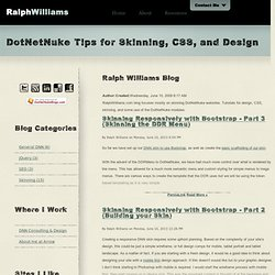DotNetNuke Tips for Skinning, CSS, and Design - The Announcements Module and jQuery as an Accordion