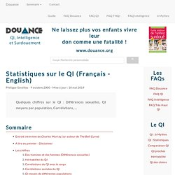 [DOUANCE] Statistiques sur le QI (Français - English)