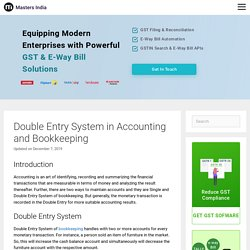 Double Entry System in Accounting and Bookkeeping