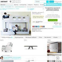 Кровать детская Double прямоугольная Anna Baby Room DOU/1L, Каталог детской мебели Abitant Москва