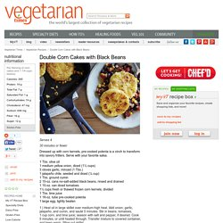 Double Corn Cakes with Black Beans Recipe