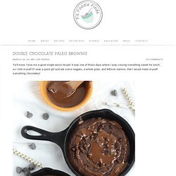 Double Chocolate Paleo Brownie - Fit Foodie Finds