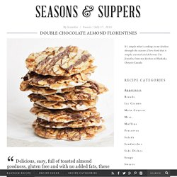 Double Chocolate Almond Florentines