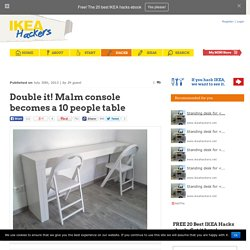 Double it! Malm console becomes a 10 people table