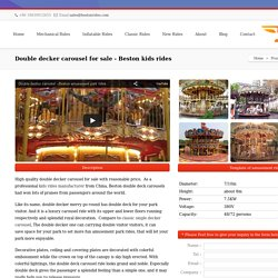 Double decker carousel for sale - Beston kids rides