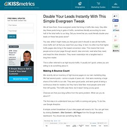 Double Your Leads Instantly With This Simple Evergreen Tweak