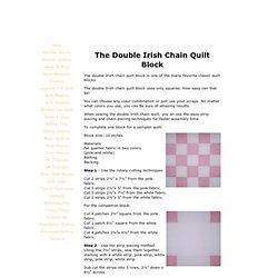 The Double Irish Chain Quilt Block