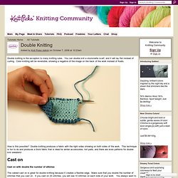 Double Knitting - Knitting Community