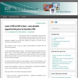 Lean 4 HR et HR 4 lean : une double opportunité pour la fonction RH
