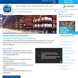 Double deep pallet racking system in India by Silver lining