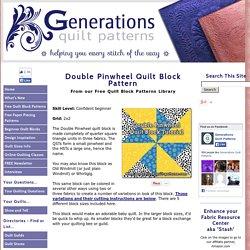 "Double Pinwheel Quilt Block: 3"", 4"", 5"", 6"" and 8"" block sizes"