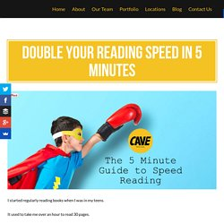Double Your Reading Speed in 5 Minutes