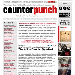 The CIA's Double Standard