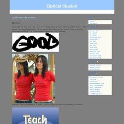 Double Words Illusion - Optical Illusion