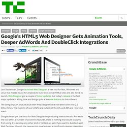 Google's HTML5 Web Designer Gets Animation Tools, Deeper AdWords And DoubleClick Integrations