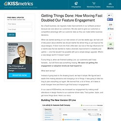 How Moving Fast Doubled Our Feature Engagement - SaaS Tips