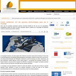 Solaire sciences pearltrees for Recyclage des panneaux solaires