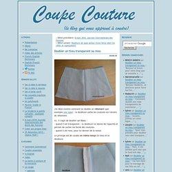 Doubler un tissu transparent ou mou