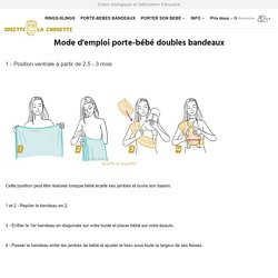 Mode d'emploi porte-bébé doubles bandeaux – Josette la chouette