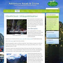 1) Doubtful Sound – full day guided kayak tour