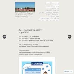 DOUCELANGUE : Encore un effort si vous voulez être francophones !
