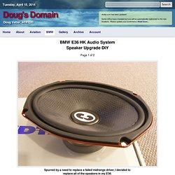 BMW E36 HK Speaker Upgrade DIY