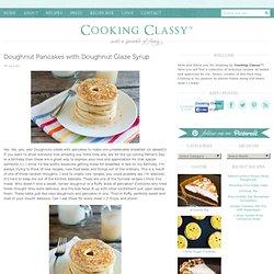 Doughnut Pancakes with Doughnut Glaze Syrup