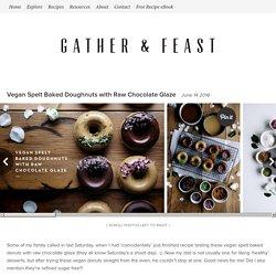 Vegan Spelt Baked Doughnuts with Raw Chocolate Glaze