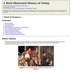 Douglas W. Jones Illustrated Voting Machine History