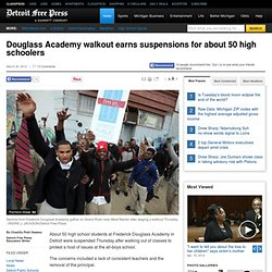 Douglass Academy walkout earns suspensions for about 50 high schoolers