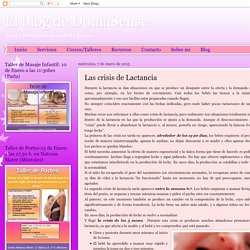 El blog de DoulaSense: Las crisis de Lactancia