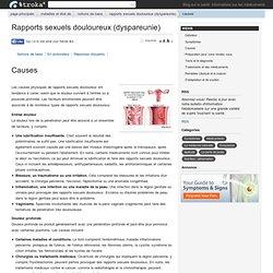Causes - Rapports sexuels douloureux (dyspareunie)