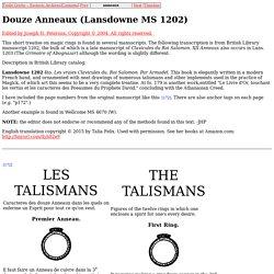 Douze Anneaux (Lansdowne MS 1202)