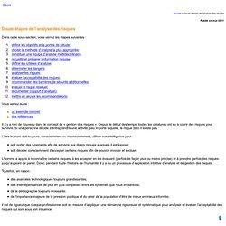 Douze étapes de l'analyse des risques