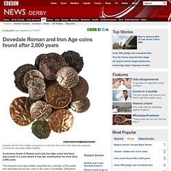 Dovedale Roman and Iron Age coins found after 2,000 years