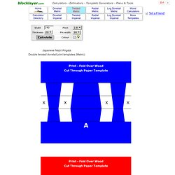 Double Twisted Dovetail Joint Template Generator Online Free. Metric and English