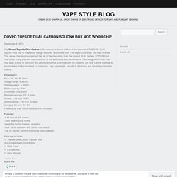 Dovpo Topside Dual Carbon Squonk Box Mod w/Yihi Chip