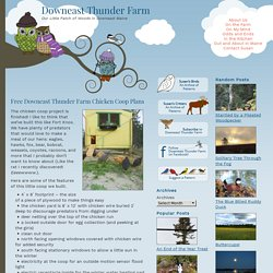 Free Downeast Thunder Farm Chicken Coop Plans