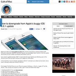 How to downgrade from Apple's buggy iOS 8.0.1 update