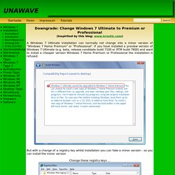 UNAWAVE - Downgrade Ultimate to Home Premium or Professional