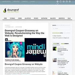 Coupon Giveaway on Webydo: Revolutionizing the Way the Web is Designed