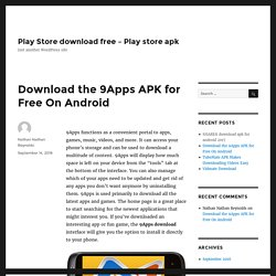 Download the 9Apps APK for Free On Android