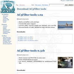 Download AC3Filter tools - AC3Filter