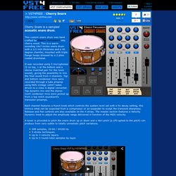 Download Free Acoustic snare drum plug-in: Cherry Snare by VST4FREE